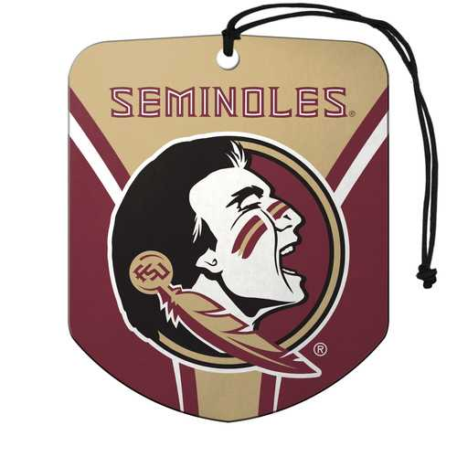 Florida State Seminoles Air Freshener Shield Design 2 Pack
