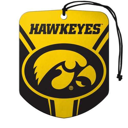 Iowa Hawkeyes Air Freshener Shield Design 2 Pack
