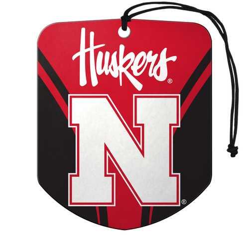 Nebraska Cornhuskers Air Freshener Shield Design 2 Pack