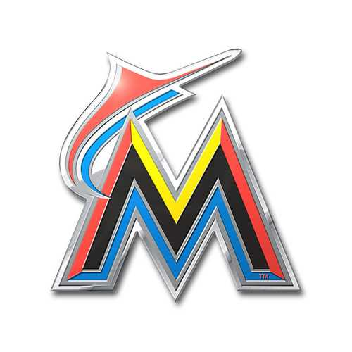 Miami Marlins Auto Emblem Color