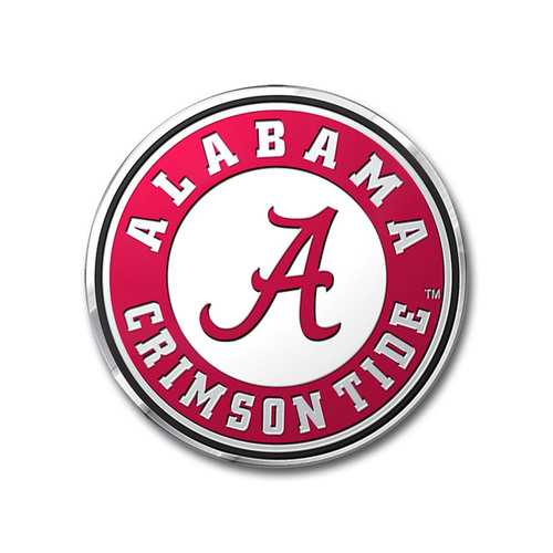 Alabama Crimson Tide Auto Emblem - Color