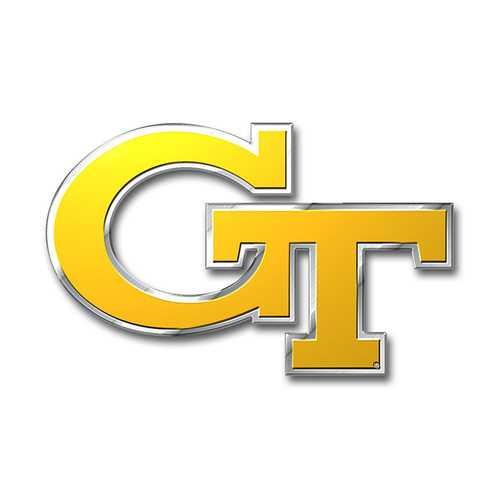 Georgia Tech Yellow Jackets Auto Emblem - Color