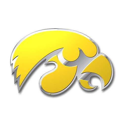 Iowa Hawkeyes Auto Emblem - Color