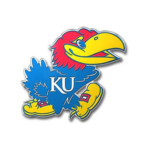 Kansas Jayhawks Auto Emblem - Color