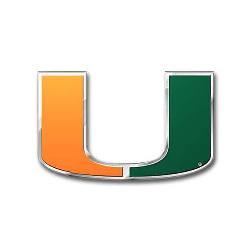 Miami Hurricanes Auto Emblem - Color