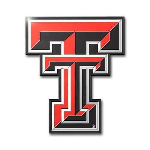 Texas Tech Red Radiers Auto Emblem - Color