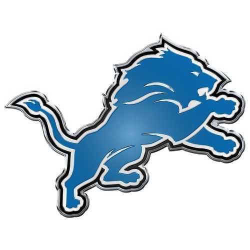 Detroit Lions Auto Emblem - Color