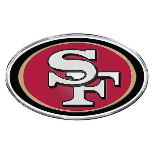 San Francisco 49ers Auto Emblem - Color