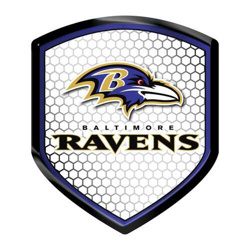 Baltimore Ravens Decal Shield Style Reflector Style