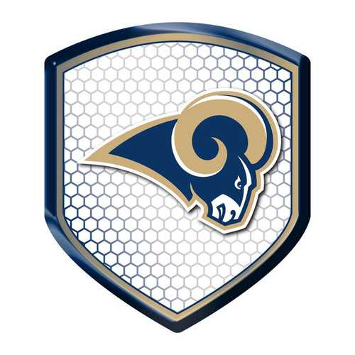 Los Angeles Rams Decal Shield Style Reflector Style