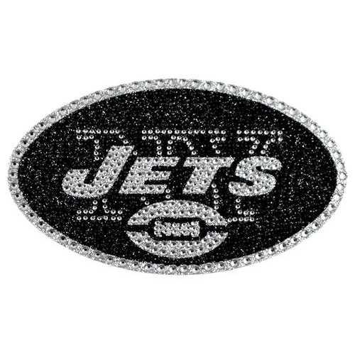 New York Jets Auto Emblem - Rhinestone Bling