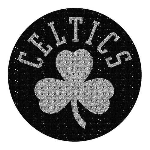 Boston Celtics Auto Emblem - Rhinestone Bling