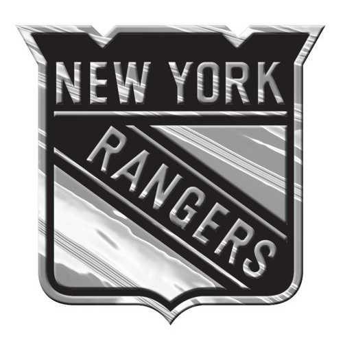 New York Rangers Auto Emblem - Silver