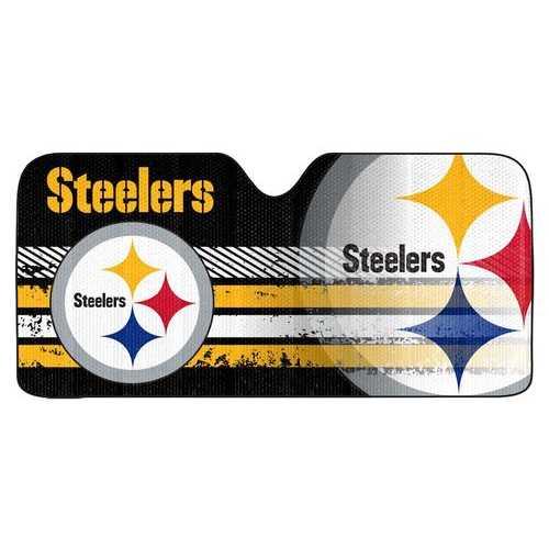 "Pittsburgh Steelers Auto Sun Shade - 59""x27"""