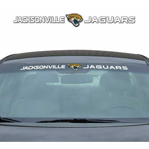 Jacksonville Jaguars Decal 35x4 Windshield