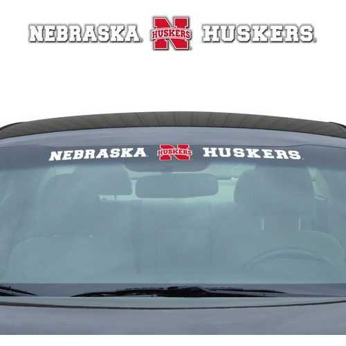 Nebraska Cornhuskers Decal 35x4 Windshield