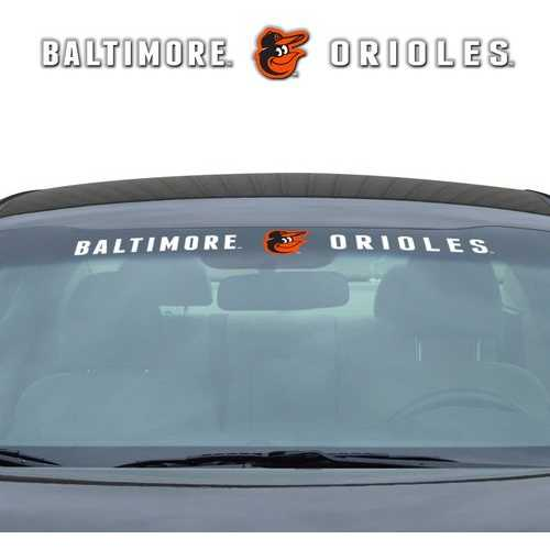Baltimore Orioles Decal 35x4 Windshield Special Order