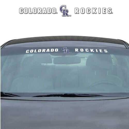 Colorado Rockies Decal 35x4 Windshield Special Order