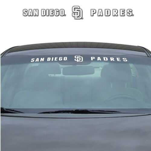 San Diego Padres Decal 35x4 Windshield Special Order