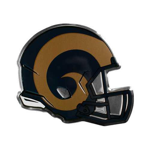 Los Angeles Rams Auto Emblem Helmet Design
