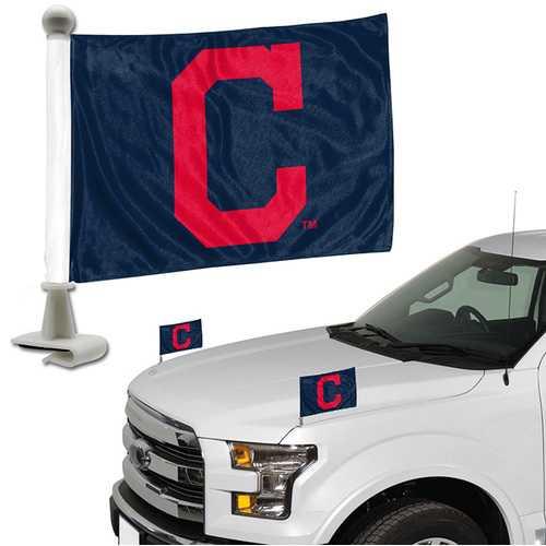 Cleveland Indians Flag Set 2 Piece Ambassador Style