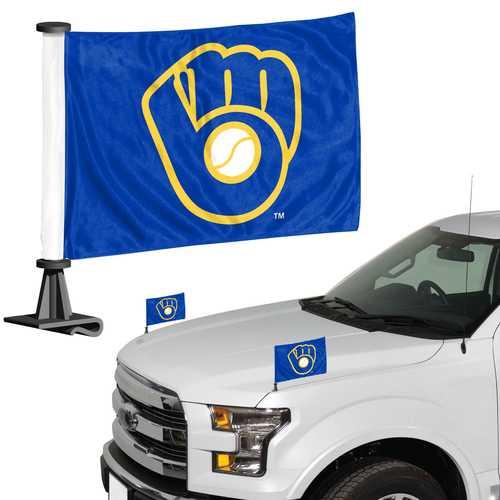 Milwaukee Brewers Flag Set 2 Piece Ambassador Style