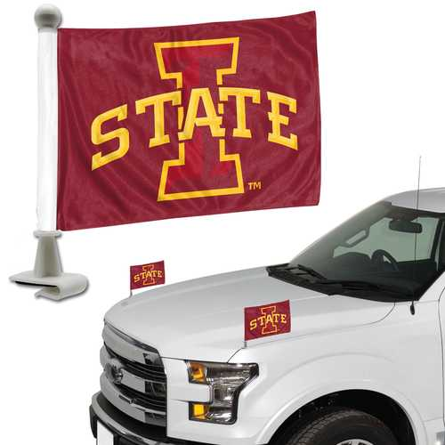 Iowa State Cyclones Flag Set 2 Piece Ambassador Style
