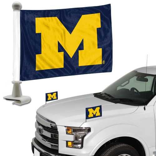 Michigan Wolverines Flag Set 2 Piece Ambassador Style