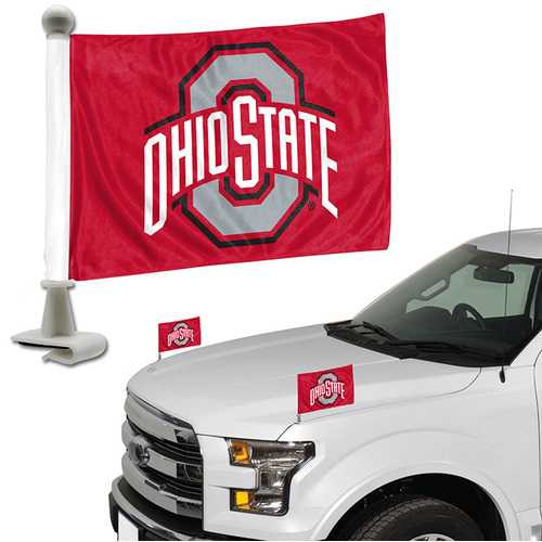 Ohio State Buckeyes Flag Set 2 Piece Ambassador Style