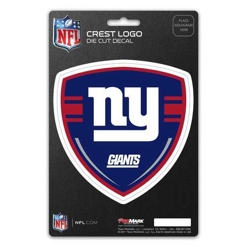 New York Giants Decal Shield Design