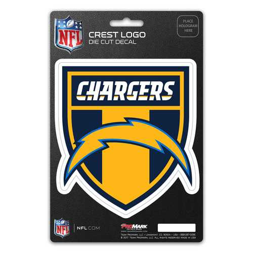 Los Angeles Chargers Decal Shield Design