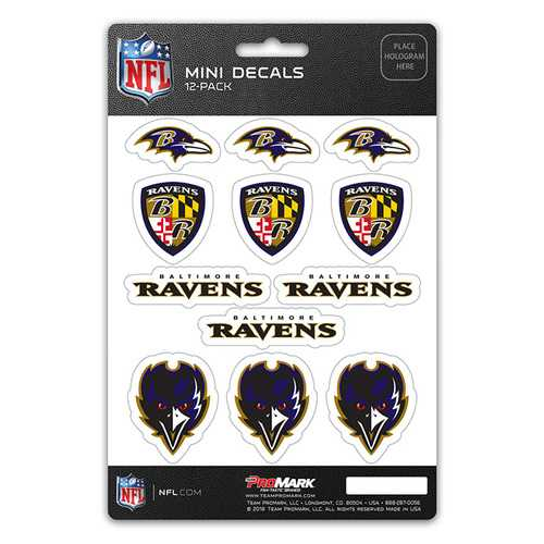 Baltimore Ravens Decal Set Mini 12 Pack
