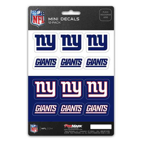 New York Giants Decal Set Mini 12 Pack