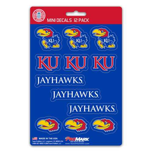 Kansas Jayhawks Decal Set Mini 12 Pack