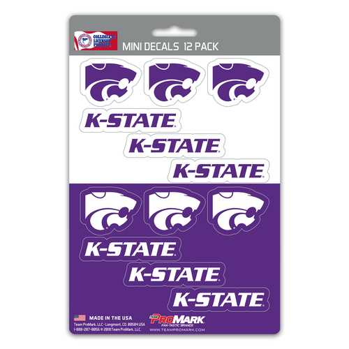Kansas State Wildcats Decal Set Mini 12 Pack