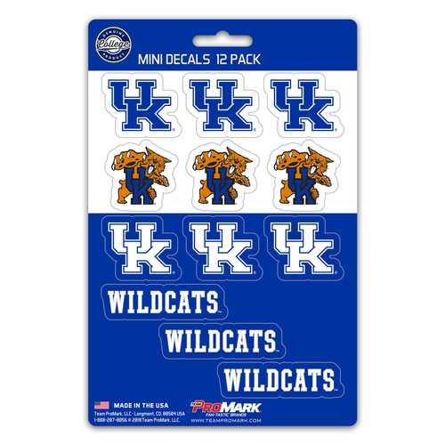 Kentucky Wildcats Decal Set Mini 12 Pack