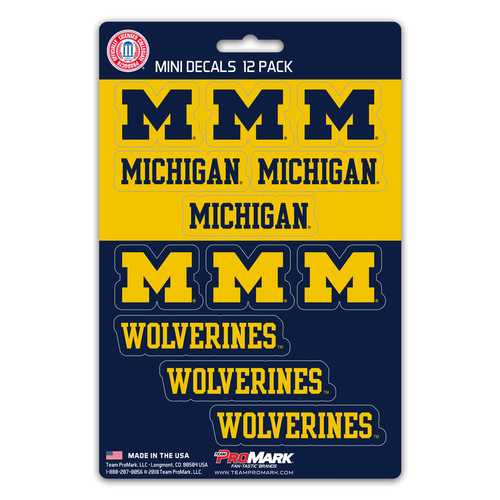Michigan Wolverines Decal Set Mini 12 Pack