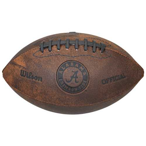 Alabama Crimson Tide Football Vintage Throwback 9 Inches