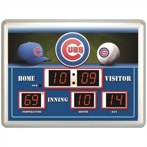 Chicago Cubs Clock 14x19 Scoreboard