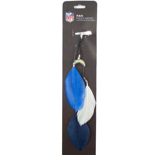 San Diego Chargers Team Color Feather Hair Clip