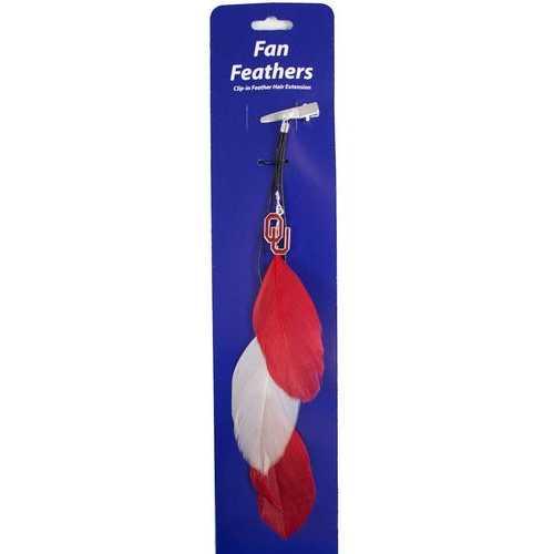 Oklahoma Sooners Team Color Feather Hair Clip