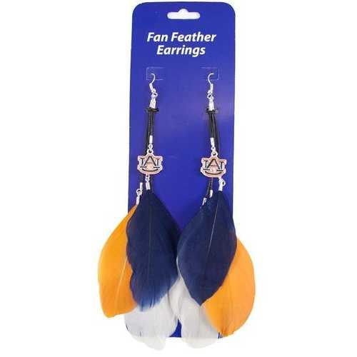Auburn Tigers Team Color Feather Earrings