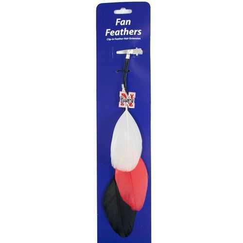 Nebraska Cornhuskers Team Color Feather Hair Clip