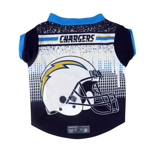 Los Angeles Chargers Pet Performance Tee Shirt Size L