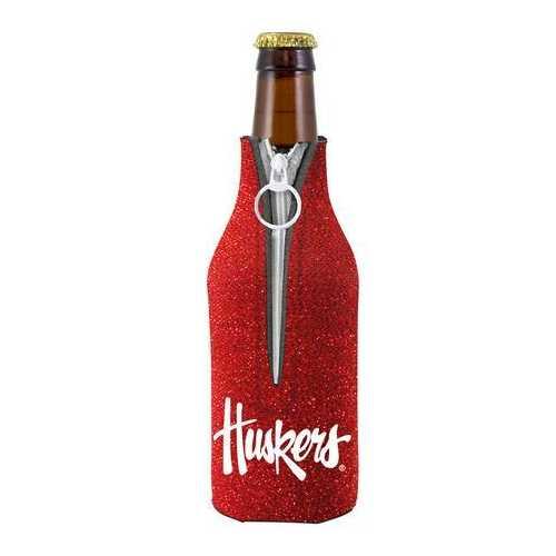 Nebraska Cornhuskers Bottle Suit Holder - Glitter