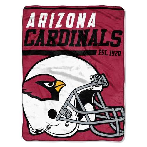 Arizona Cardinals Blanket 46x60 Micro Raschel 40 Yard Dash Design Rolled