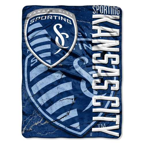Sporting Kansas City Blanket 46x60 Micro Raschel Concrete Design Rolled Special Order