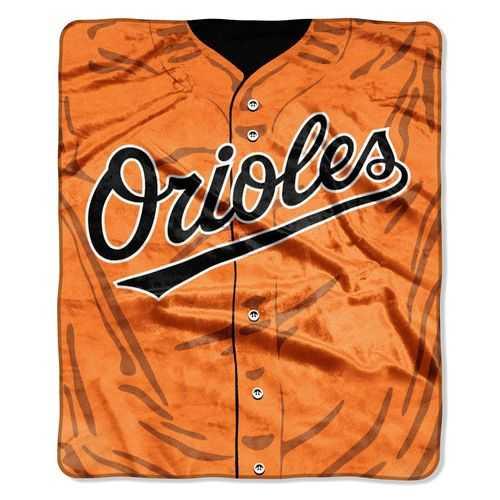 Baltimore Orioles Blanket 50x60 Raschel Jersey Design