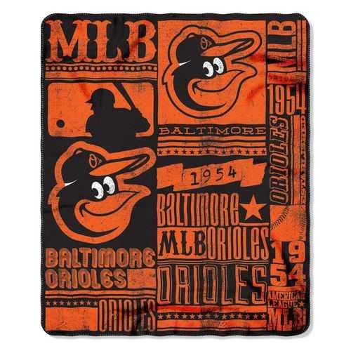 Baltimore Orioles Blanket 50x60 Fleece Strength Design