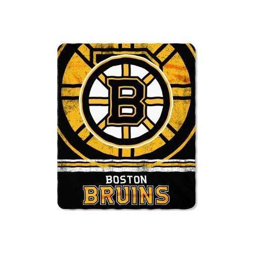 Boston Bruins Blanket 50x60 Fleece Fade Away Design Special Order